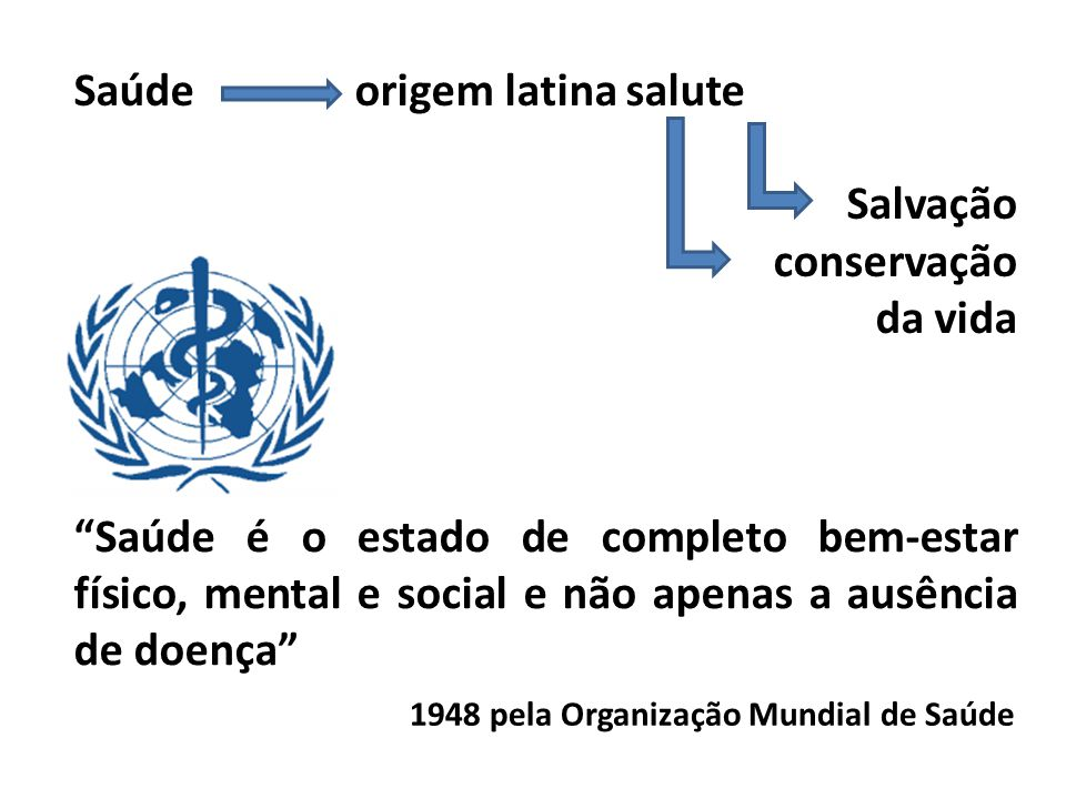 Saúde origem latina salute Salvação conservação da vida