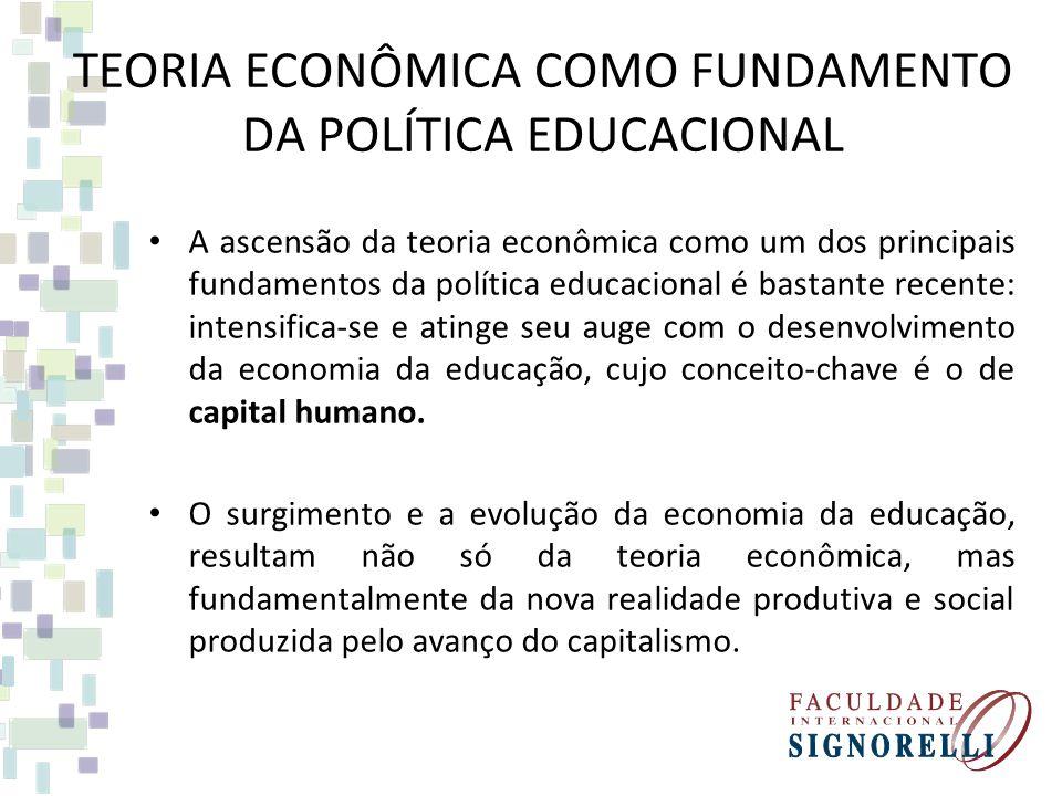 TEORIA ECONÔMICA COMO FUNDAMENTO DA POLÍTICA EDUCACIONAL