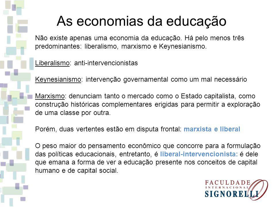 As economias da educação
