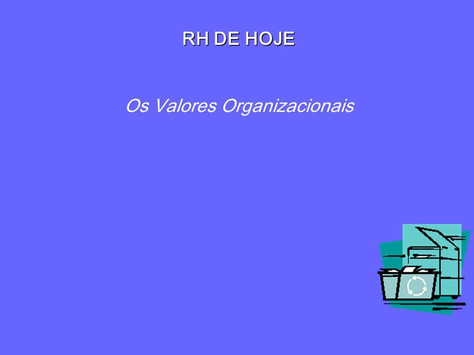 Os Valores Organizacionais