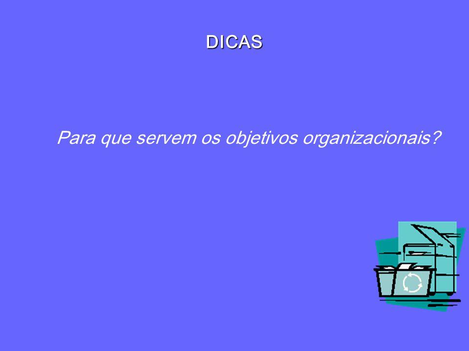 Para que servem os objetivos organizacionais