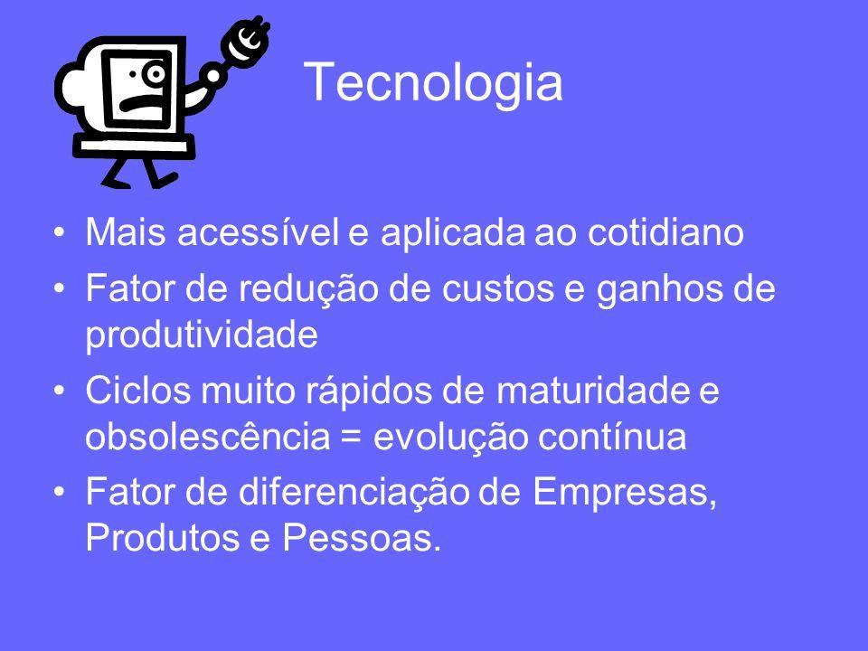 Tecnologia Mais acessível e aplicada ao cotidiano