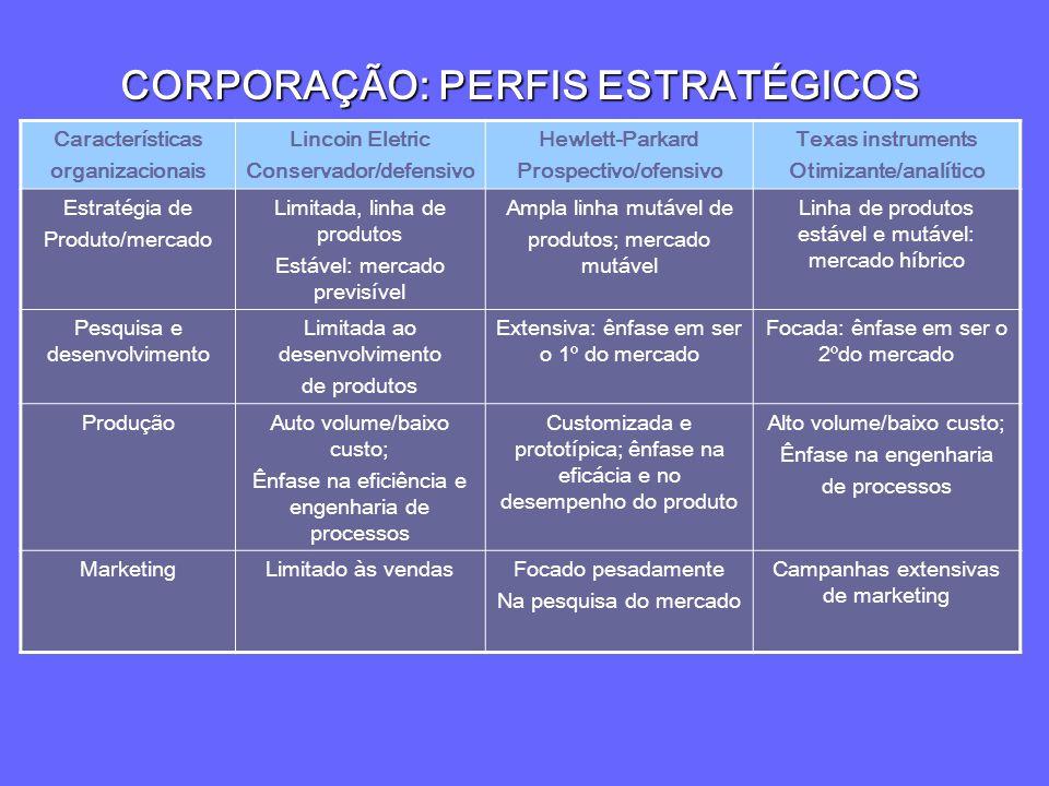 CORPORAÇÃO: PERFIS ESTRATÉGICOS