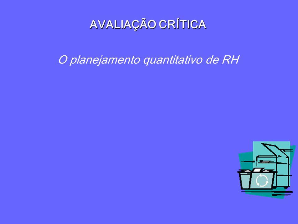 O planejamento quantitativo de RH