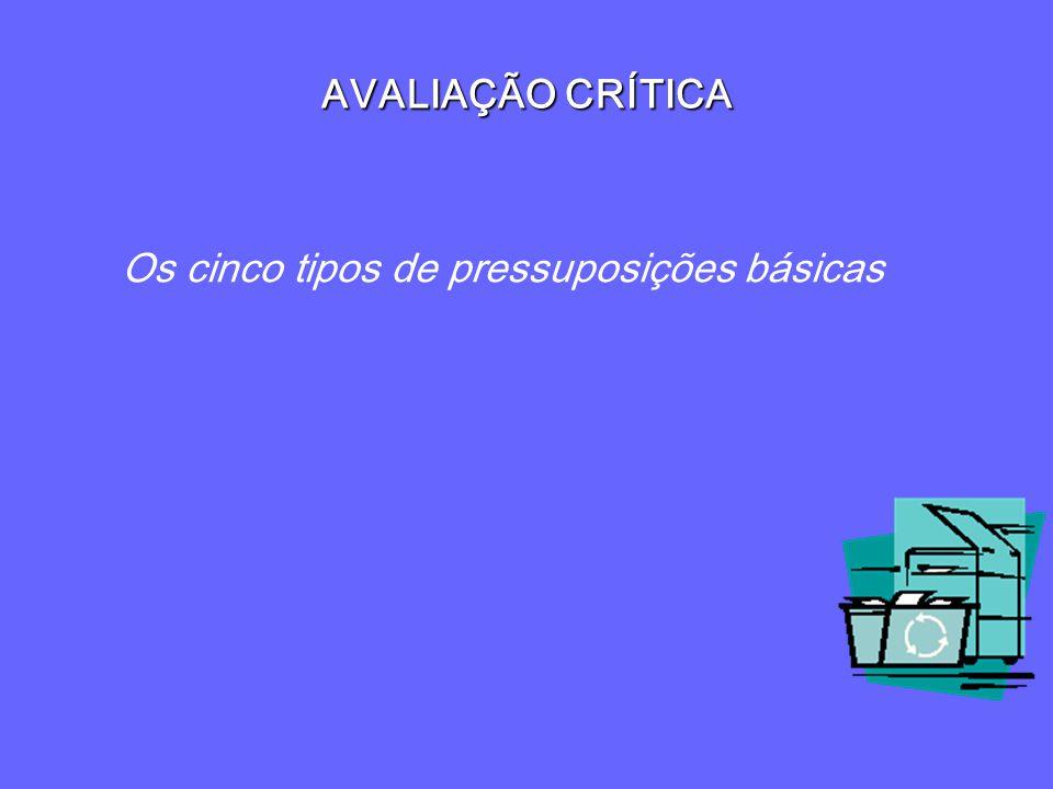 Os cinco tipos de pressuposições básicas