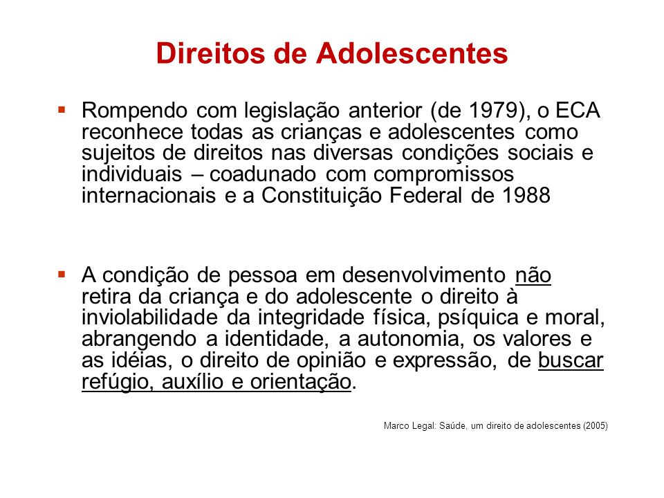 Direitos de Adolescentes