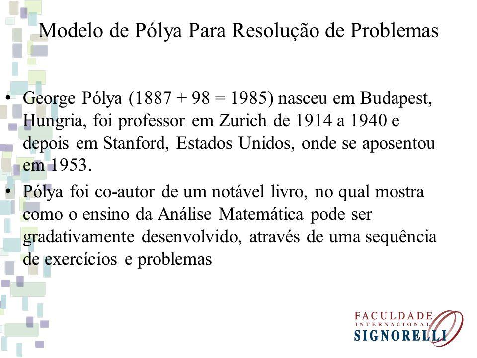 Modelo de Pólya Para Resolução de Problemas