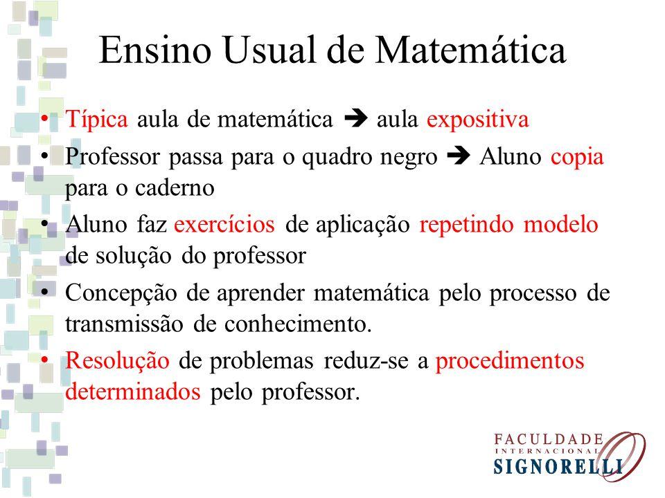 Ensino Usual de Matemática