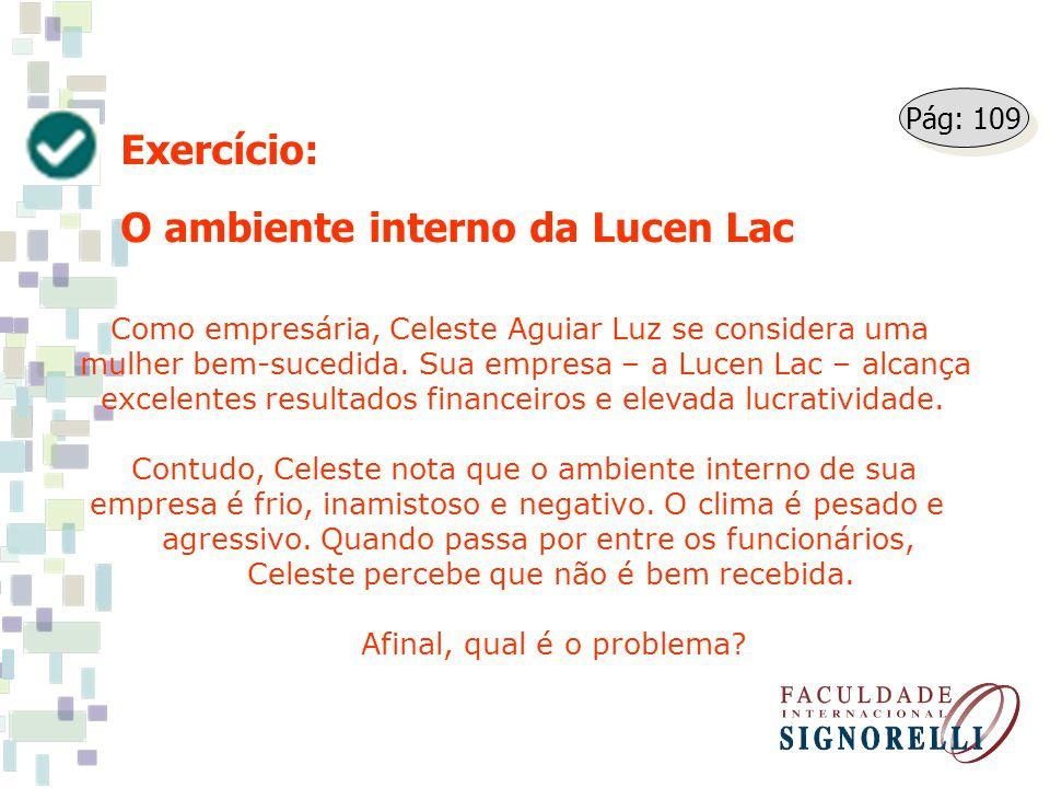 O ambiente interno da Lucen Lac