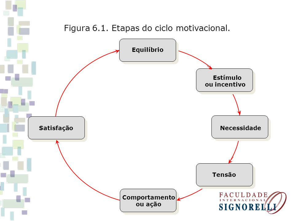 Figura 6.1. Etapas do ciclo motivacional.