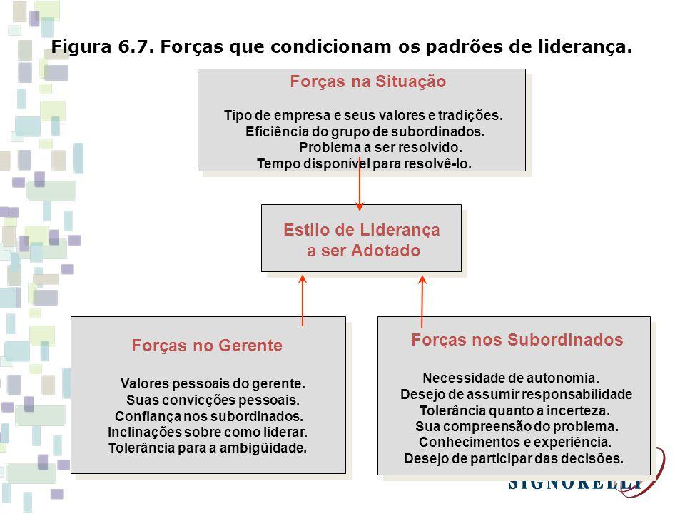 Figura 6.7. Forças que condicionam os padrões de liderança.