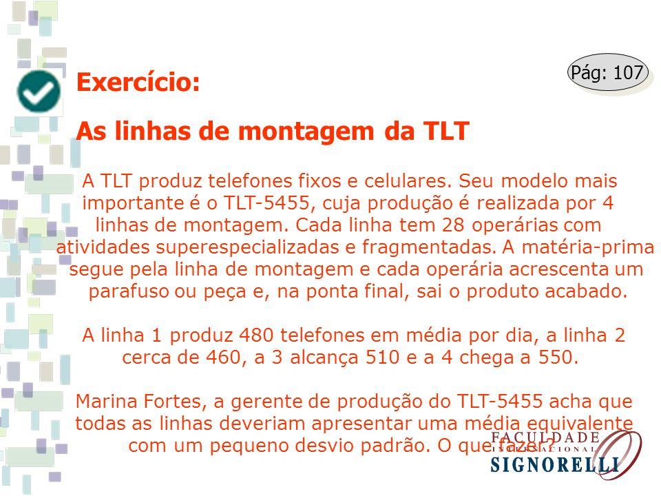As linhas de montagem da TLT