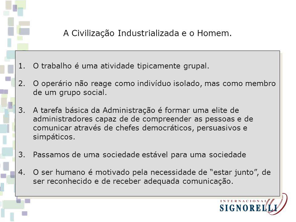 A Civilização Industrializada e o Homem.