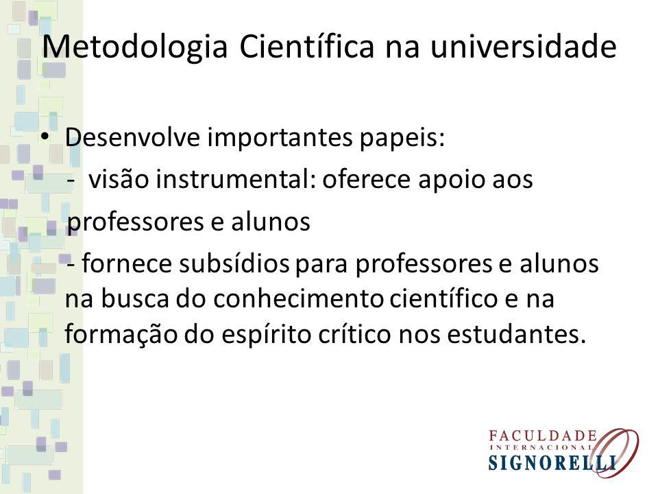 Metodologia Científica na universidade