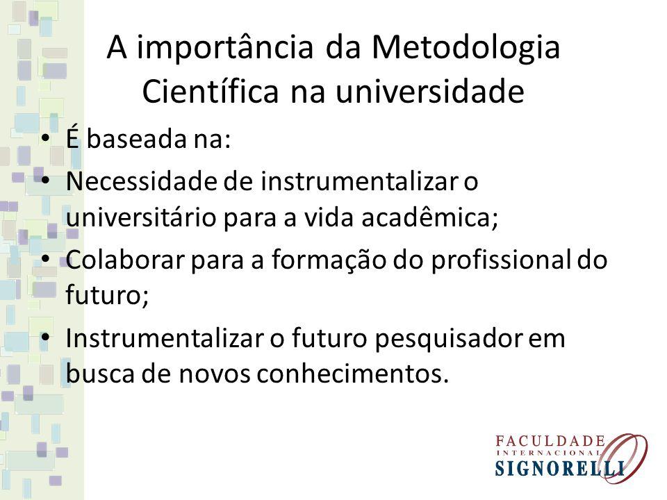 A importância da Metodologia Científica na universidade