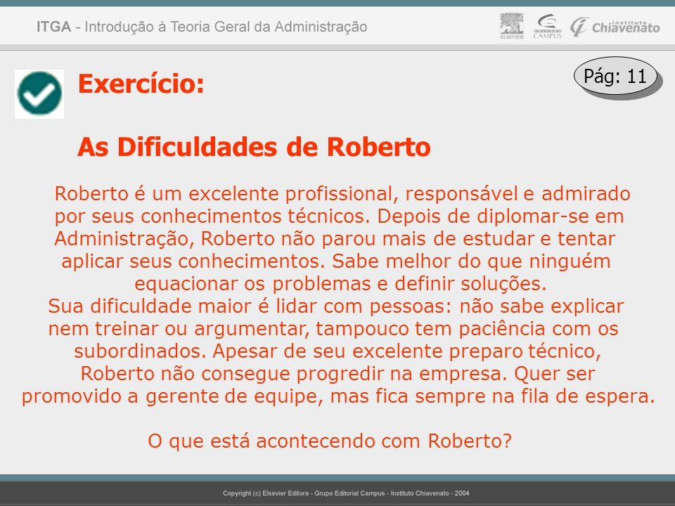 As Dificuldades de Roberto
