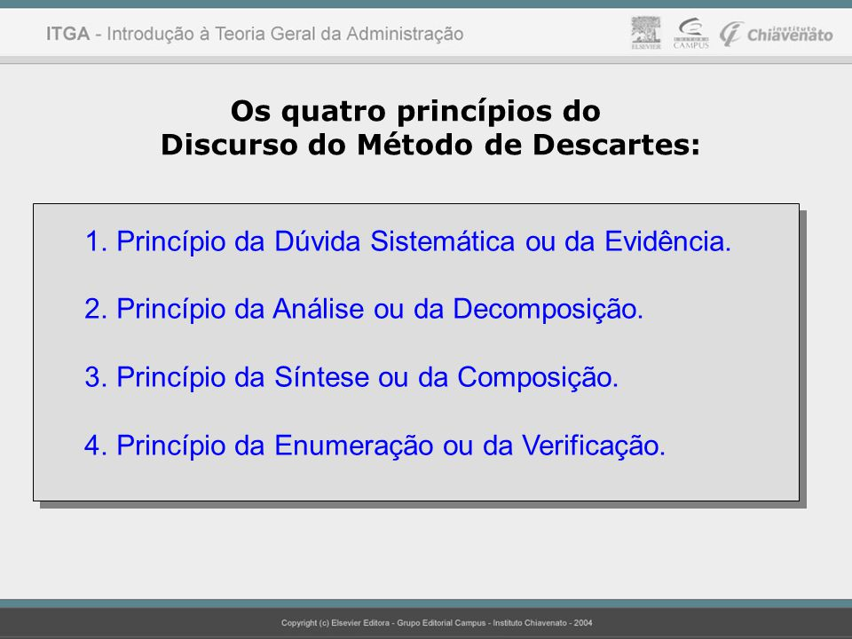 Os quatro princípios do