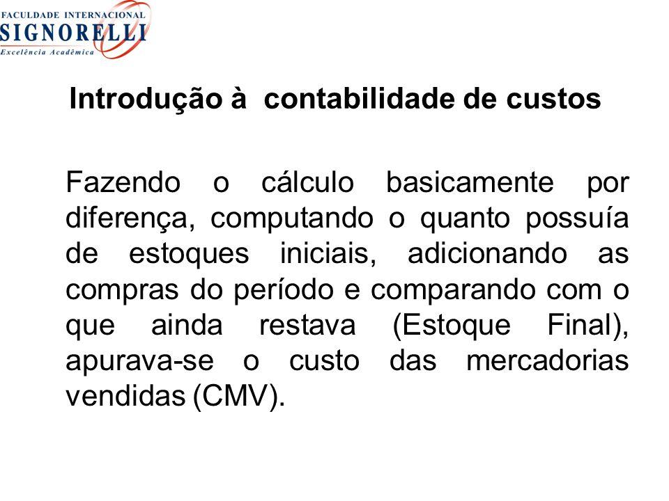 Introdução à contabilidade de custos