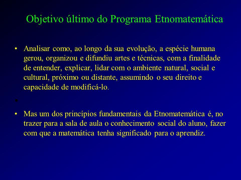 Objetivo último do Programa Etnomatemática