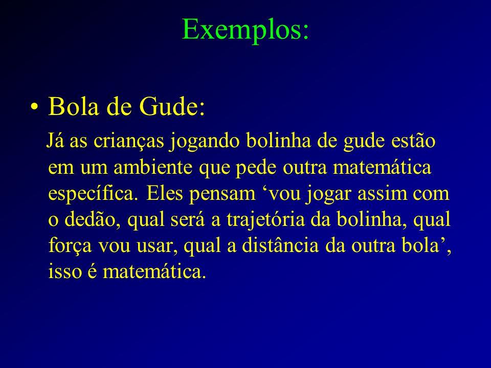 Exemplos: Bola de Gude: