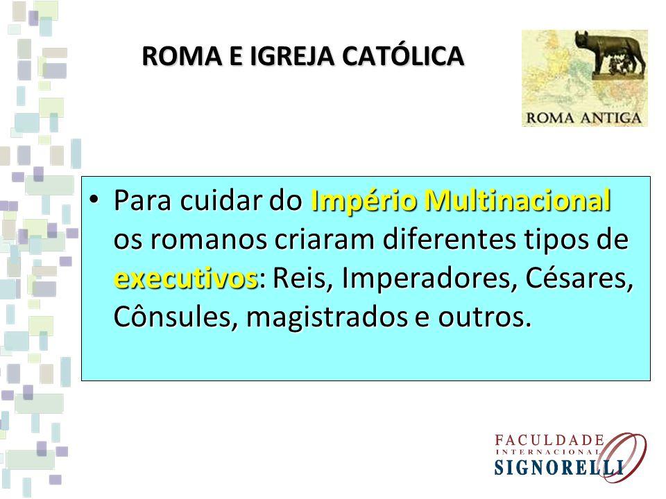 ROMA E IGREJA CATÓLICA