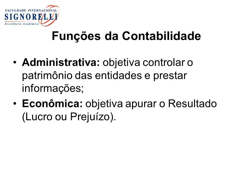 Funções da Contabilidade