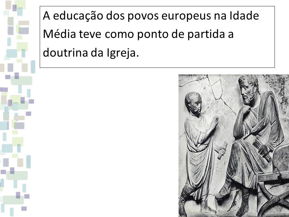 A educação dos povos europeus na Idade