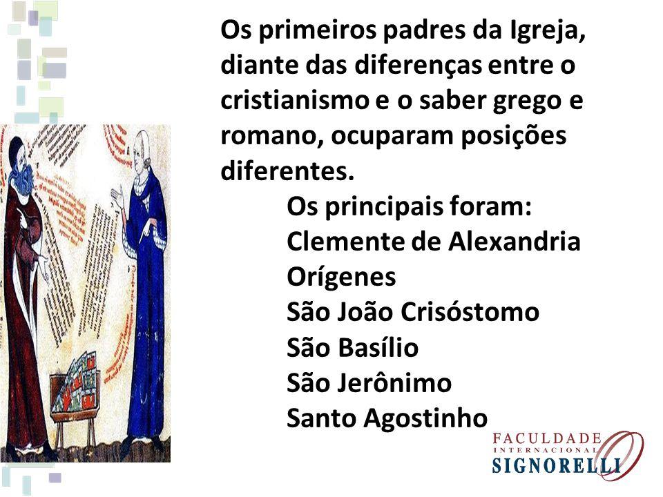 Os primeiros padres da Igreja,
