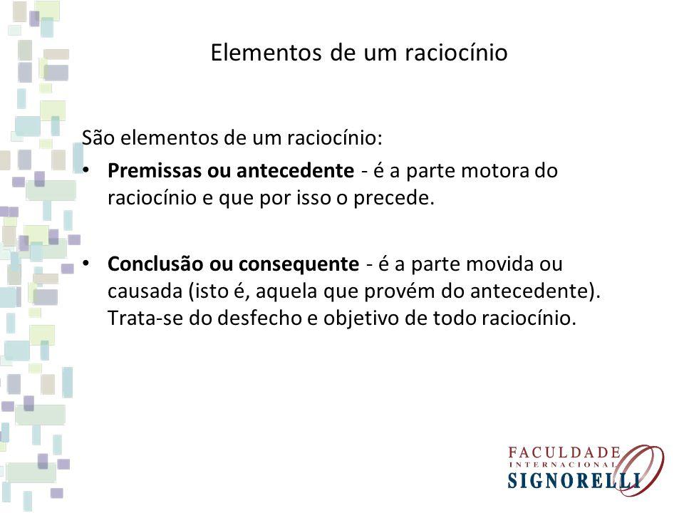 Elementos de um raciocínio