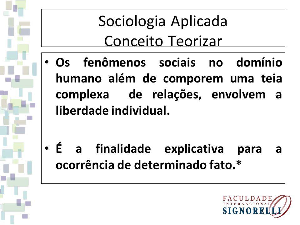 Sociologia Aplicada Conceito Teorizar
