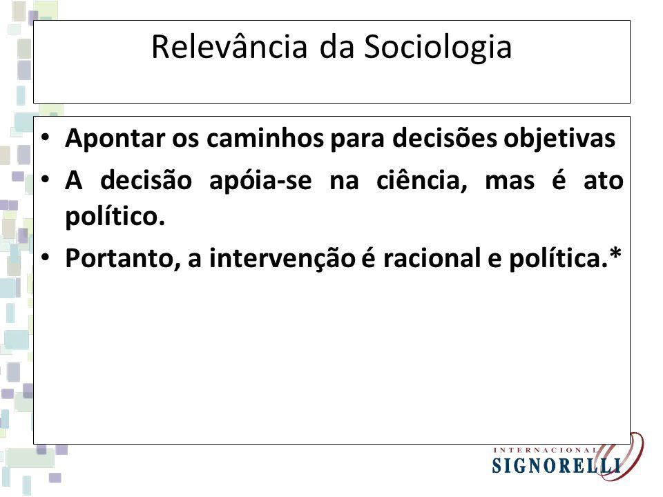 Relevância da Sociologia