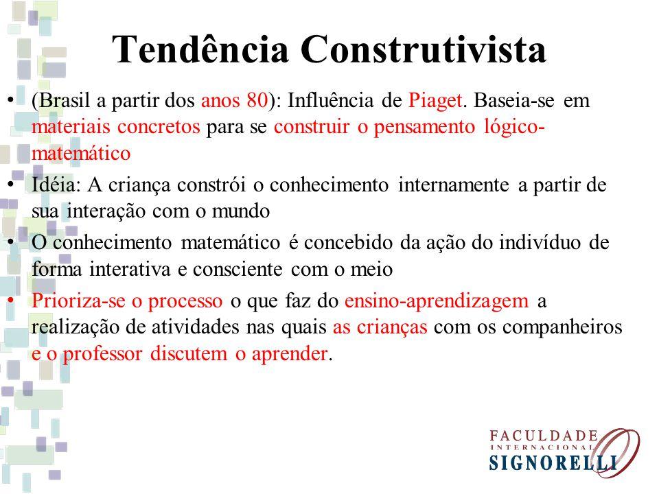 Tendência Construtivista