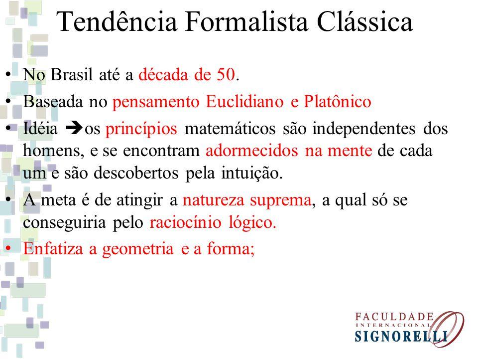 Tendência Formalista Clássica