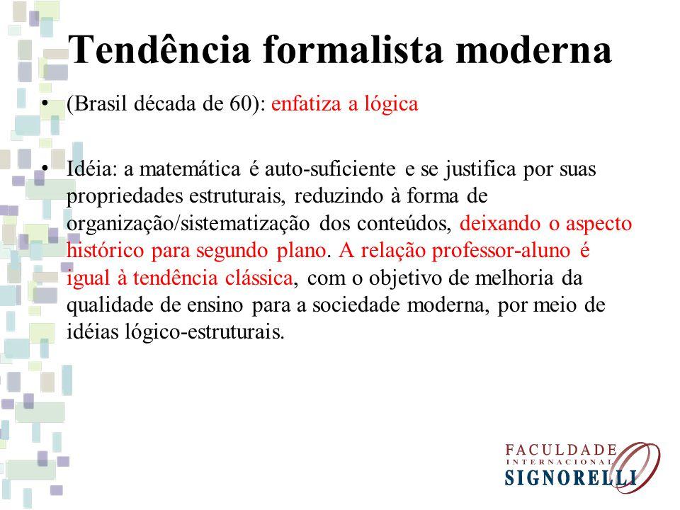 Tendência formalista moderna