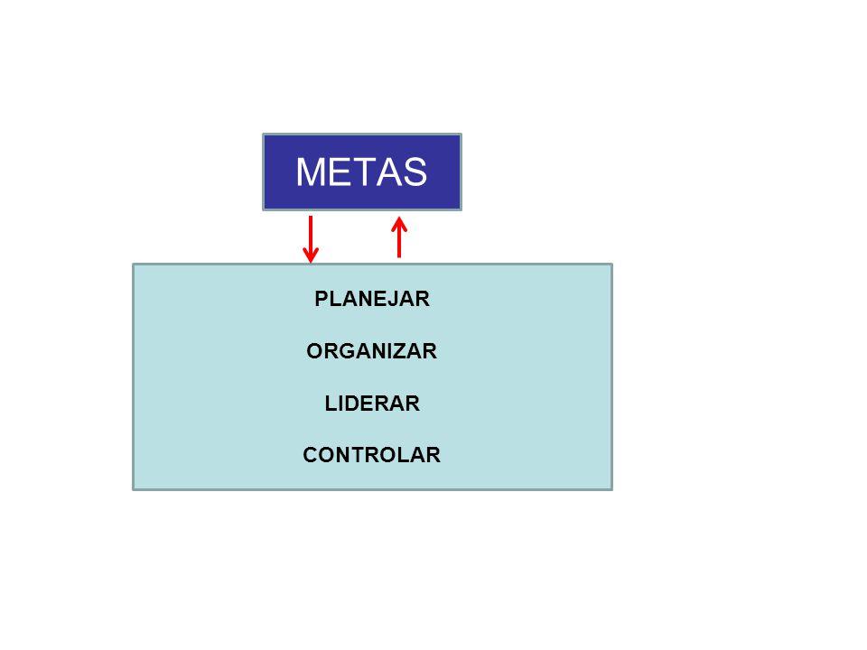METAS PLANEJAR ORGANIZAR LIDERAR CONTROLAR
