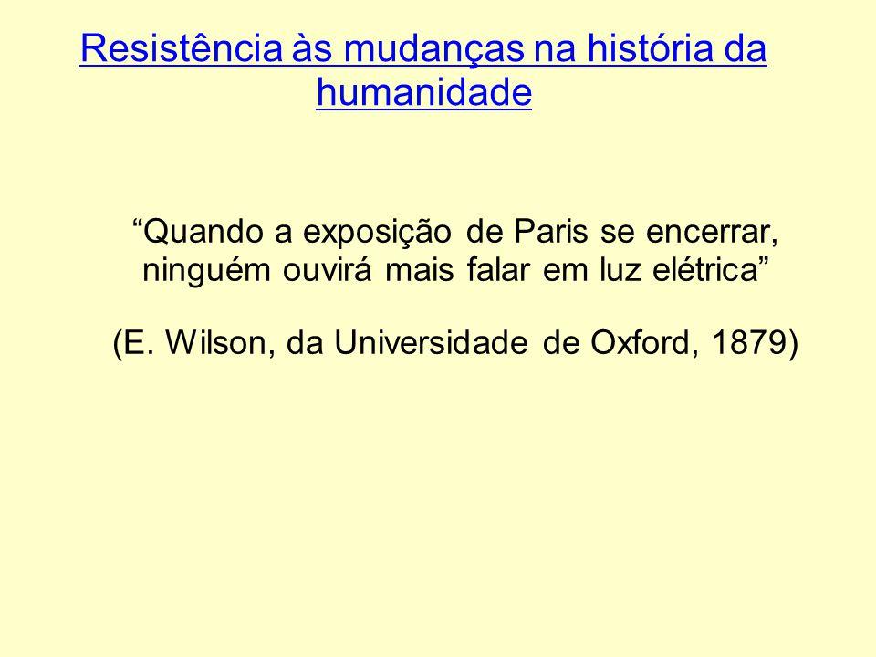Resistência às mudanças na história da humanidade