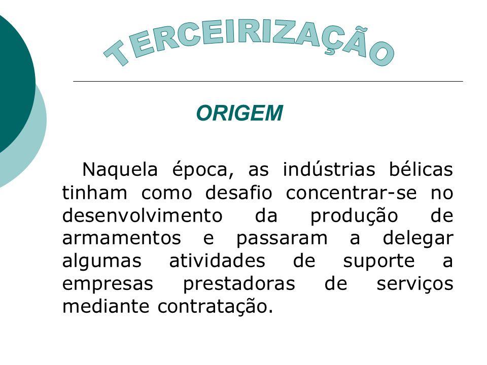 TERCEIRIZAÇÃO ORIGEM.