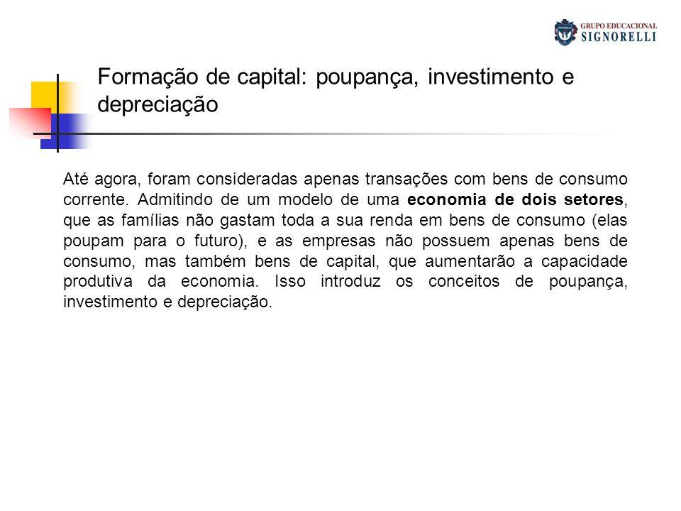 Formação de capital: poupança, investimento e depreciação