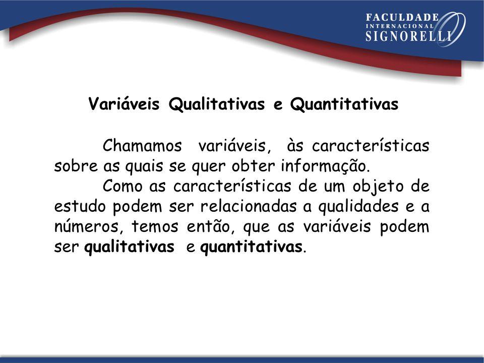 Variáveis Qualitativas e Quantitativas