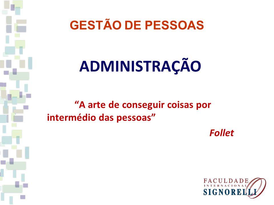 ADMINISTRAÇÃO GESTÃO DE PESSOAS