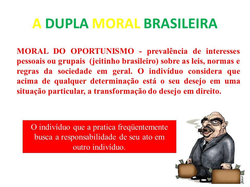 A DUPLA MORAL BRASILEIRA