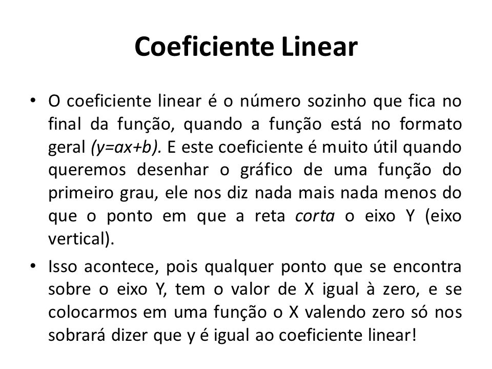 Coeficiente Linear