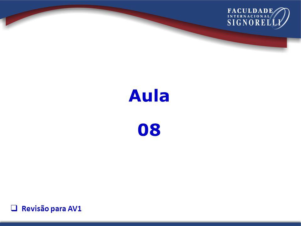Aula 08 Revisão para AV1