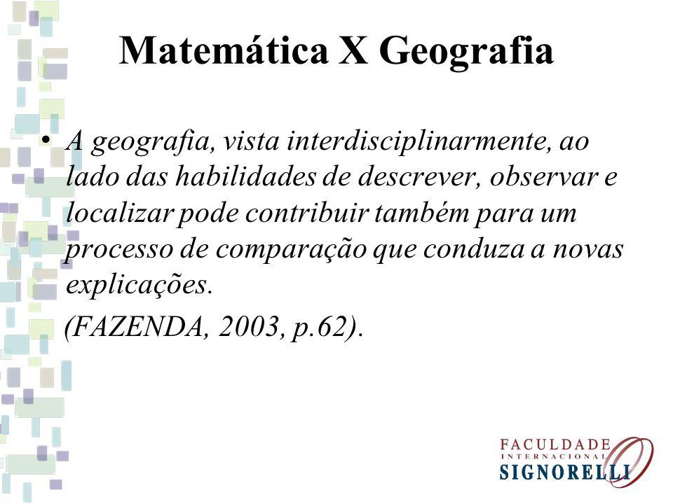 Matemática X Geografia