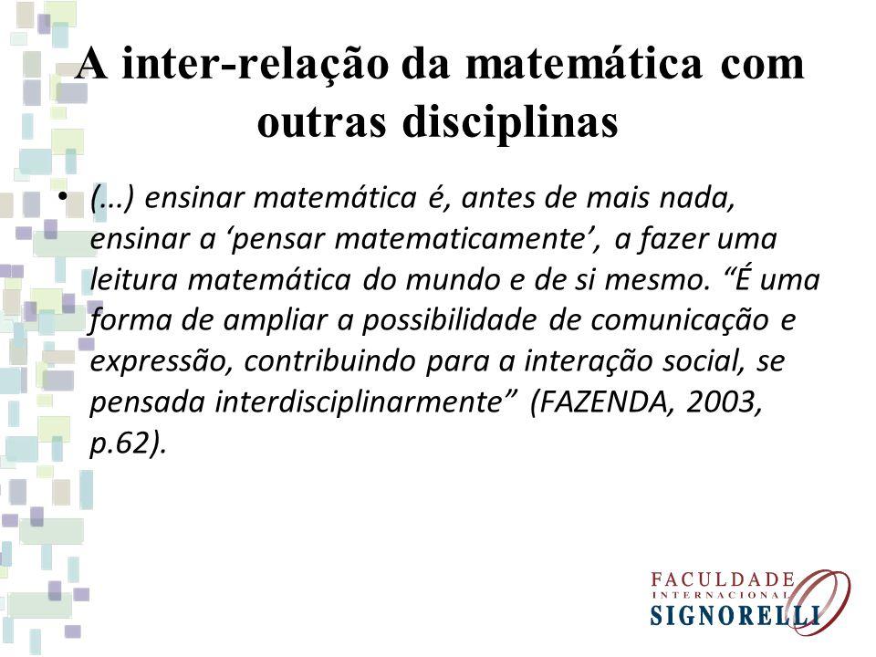 A inter-relação da matemática com outras disciplinas