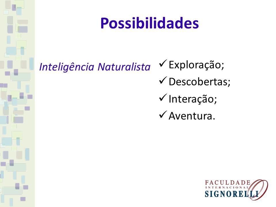 Possibilidades Exploração; Inteligência Naturalista Descobertas;