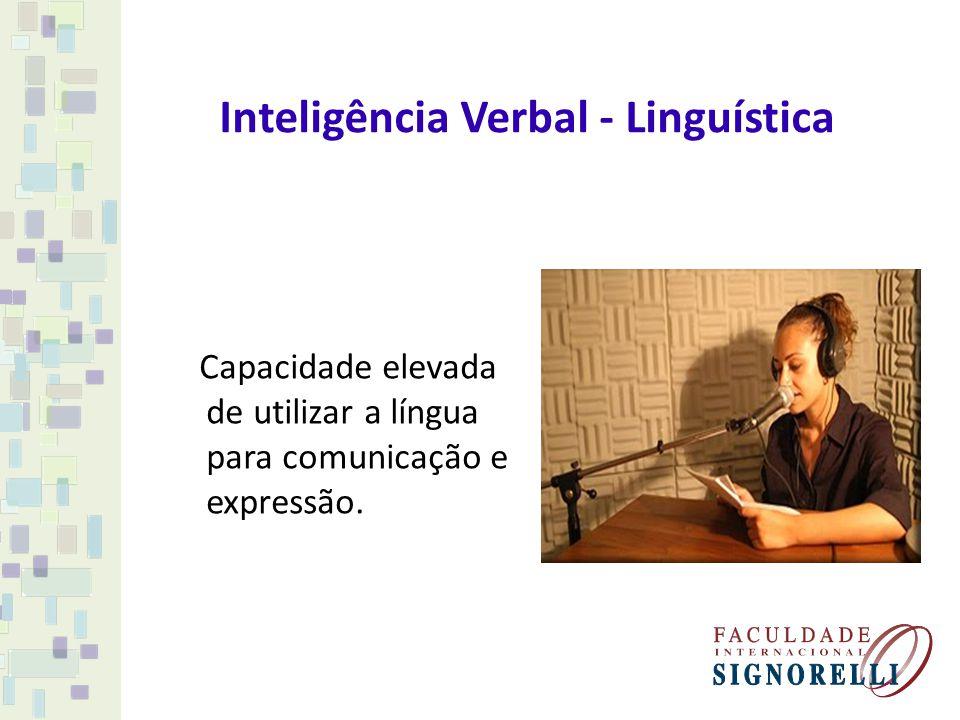 Inteligência Verbal - Linguística