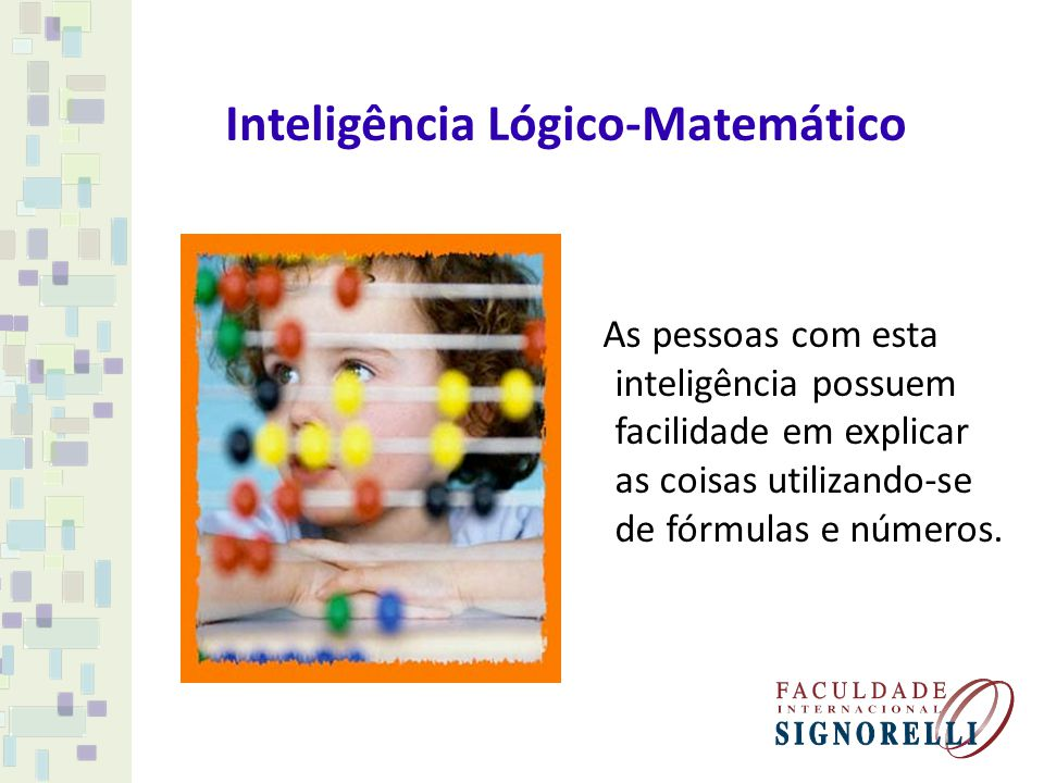 Inteligência Lógico-Matemático