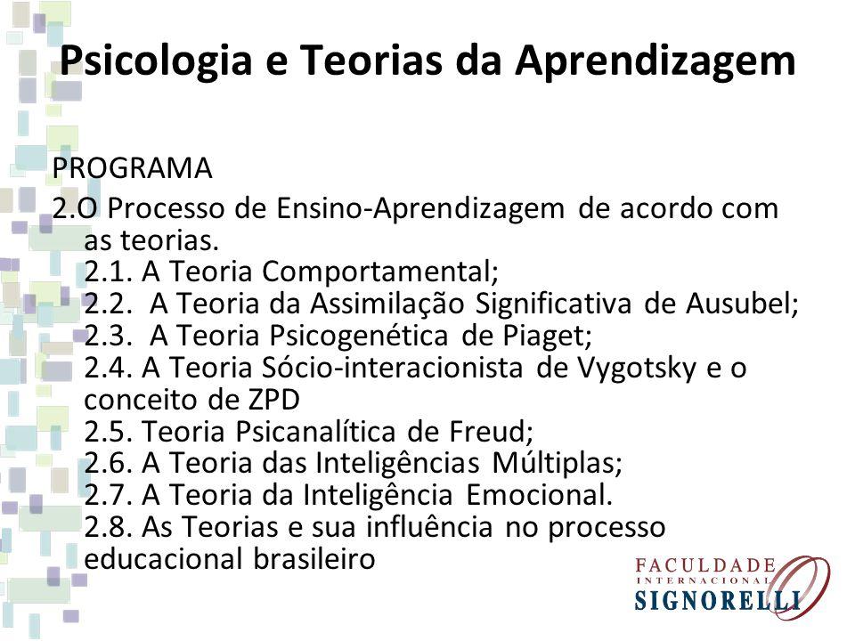 Psicologia e Teorias da Aprendizagem