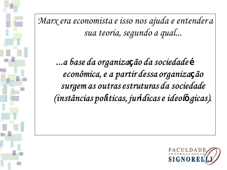 Marx era economista e isso nos ajuda e entender a sua teoria, segundo a qual...